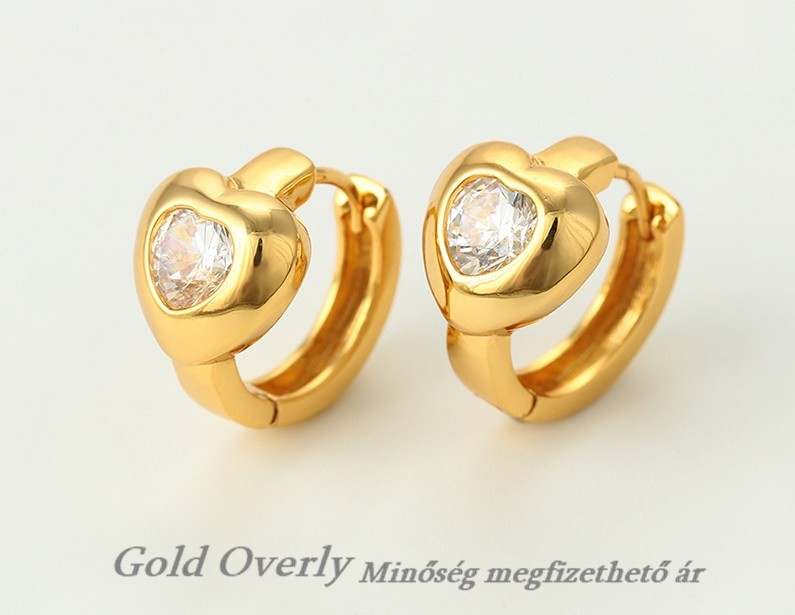 eb507206cf ANTIALLERGÉN Gold Overly fülbevaló - Gold Overly Antiallergén Ékszer ...