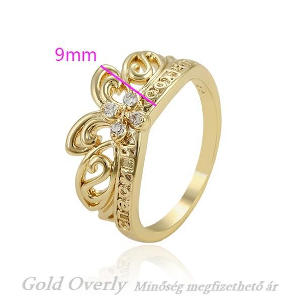 33c44797d5 Antiallergén Gold Overly gyűrű 20 mm es - Gold Overly Antiallergén ...