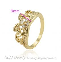 Antiallergén Gold Overly gyűrű 20 mm es