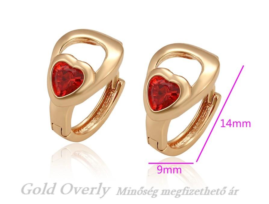 1b520332f1 Antiallergén kislány fülbevaló - Gold Overly Antiallergén Ékszer ...