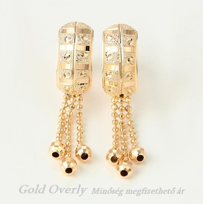 1ce529cd24 Gold Overly loggós fülbevaló - Gold Overly Antiallergén Ékszer Webáruház
