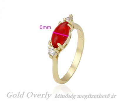 Antiallergén Gold Overly gyűrű 19 mm