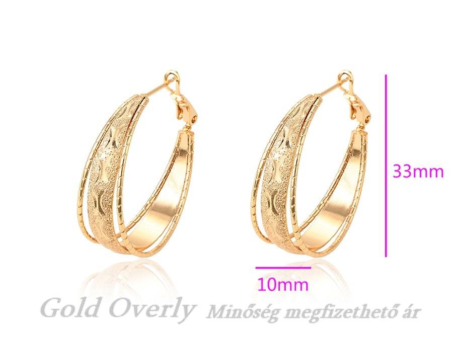 6f9530c208 Gold Overly fülbevaló fémallergiásoknak is - Gold Overly ...