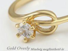 Gold Overly gyűrű 16 mm es belső átmérőjű