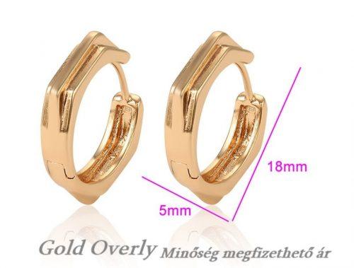 Gold Overly fülbevaló Antiallergén ékszer