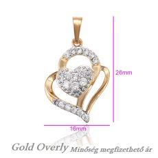 Gold Overly medál 18 k arany színű