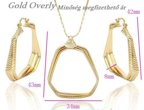 Gold Overly szett