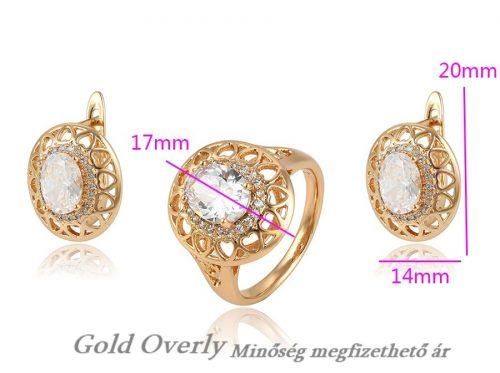 Gold Overly szett 21 mm es belső átmérőjű gyűrűvel