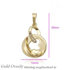 Medál 14 k arany színű minőségi ékszer