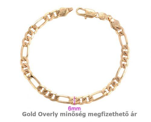 Antiallergén Gold Overly  karlánc 18 k arany színű