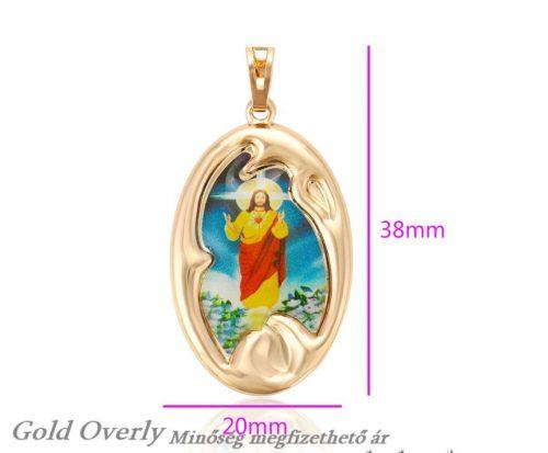 18 k arany színű Jézus medál