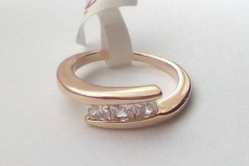 Köves női gyűrű 15 mm es