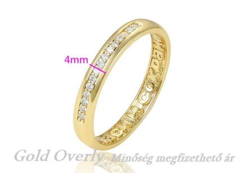 Köves karikagyűrű 20 mm es