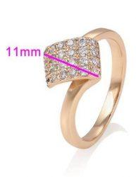 Gold Overly 18 mm es belső átmérőjű gyűrű