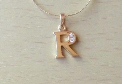 R  betű medál antiallergén Gold Overly divatékszer