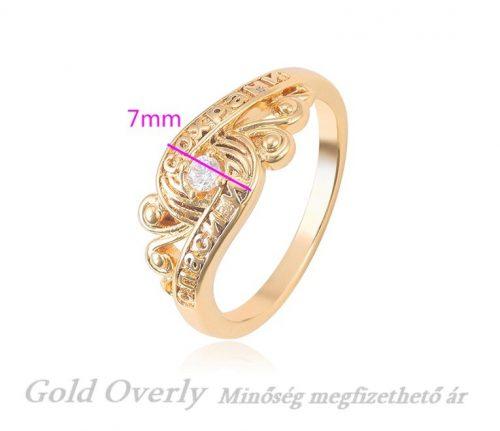 Gold Overly gyűrű 21 mm es belső átmérőjű