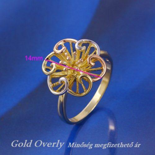 Gold Overly gyűrű 17 mm es belső átmérőjű