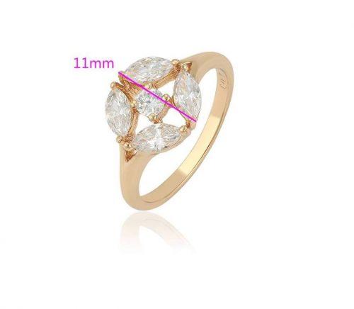 Antiallergén Gold Overly gyűrű 53 as méret