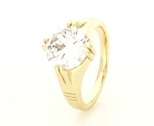 Gold Overly köves gyűrű 19 es