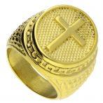 Nemesacél pecsétgyűrű, arany színben