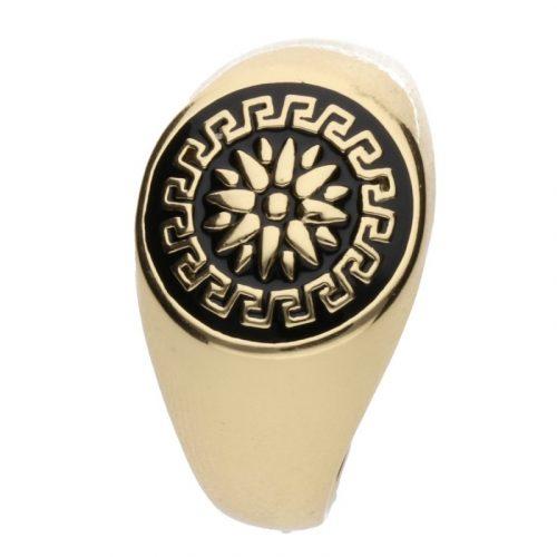 Antiallergén görög mintás pecsétgyűrű 24