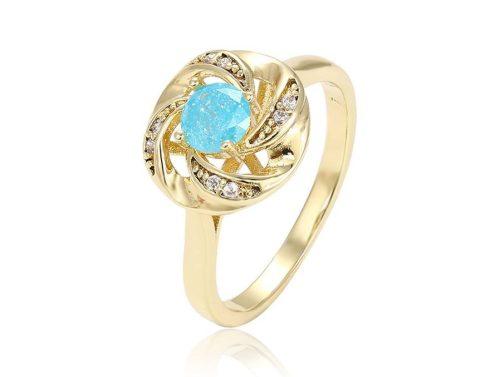 Kék köves gyűrű  17mm