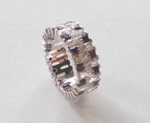 Ródium bevonatú Gold Overly gyűrű