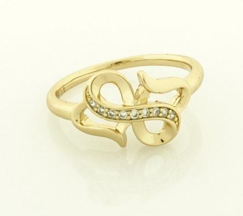 18 k arany színű  női gyűrű 22