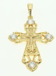 Kereszt medál minőségi Gold Overly ékszer