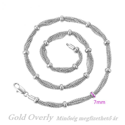 Gold Overly RÓDIUM bevonatú nyaklánc