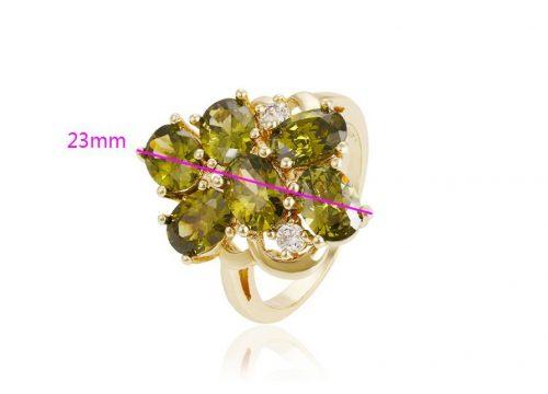Zöld köves gyűrű 16 mm