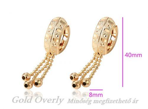 Gold Overly loggós fülbevaló