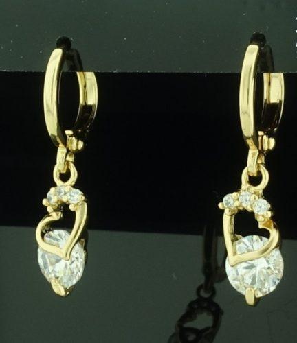 Gold Overly fülbevaló  köves ékszer