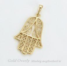 Medál 18 k arany színű Gold Overly