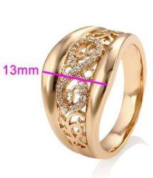 Antiallergén Gold Overly gyűrű 16 mm
