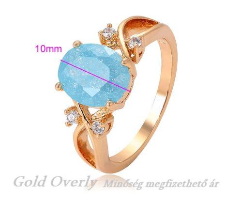 Gold Overly gyűrű kék kővel 59