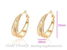 Gold Overly fülbevaló fémallergiásoknak is