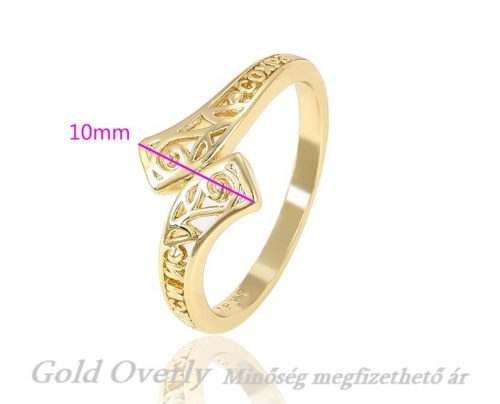 Gyűrű 19 mm es GOLD OVERLY