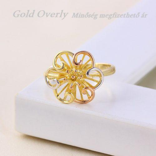 Gold Overly ékszer 18 mm es belső átmérőjű