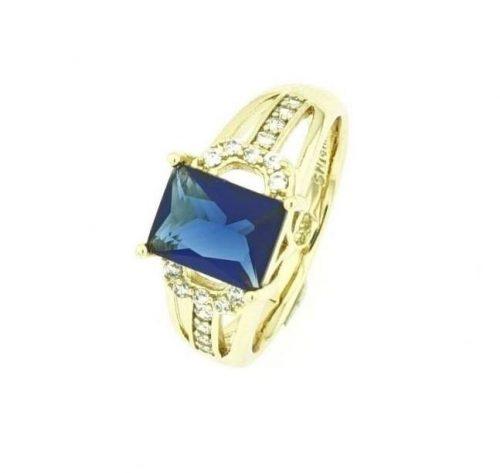 Köves női gyűrű 17 mm es