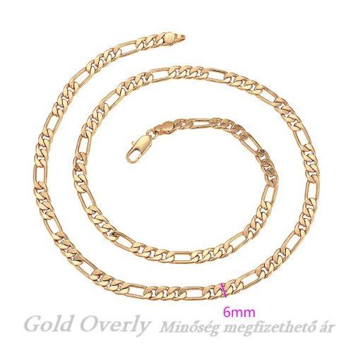 Gold Overly nyaklánc minőségi unisex
