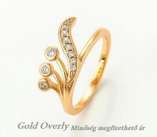 Gold Overly gyűrű 19 mm es belső átmérővel