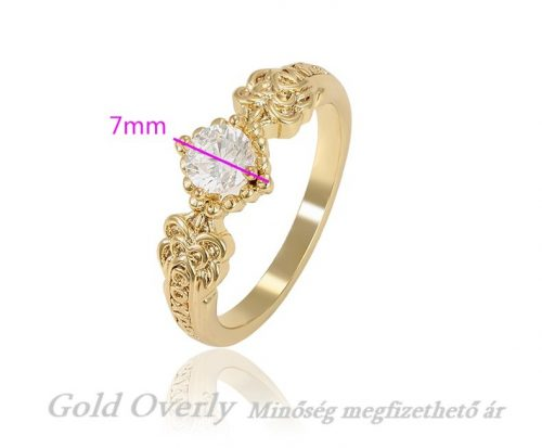 Antiallergén Gold Overly ékszer 19 mm es